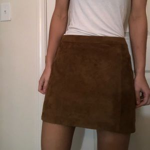 Abercrombie faux suede skirt